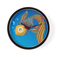 My colorful fish Wall Clock