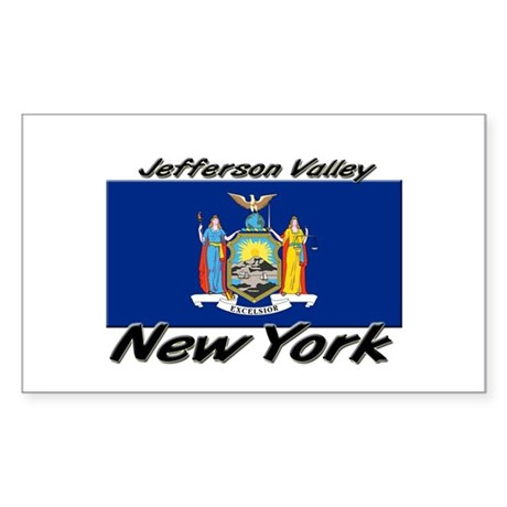 Jefferson Valley New York Rectangle Sticker