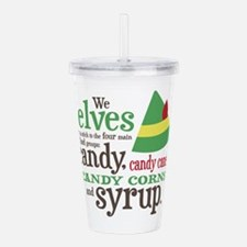 Elf Candy Syrup Acrylic Double-wall Tumbler
