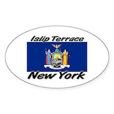 Islip Terrace New York Oval Decal