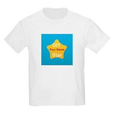 Custom Gold Yellow Blue DIY Star Wear T-Shirt