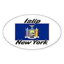 Islip New York Oval Decal