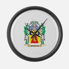 Campus Coat of Arms - Family Cres Large Wall Clock