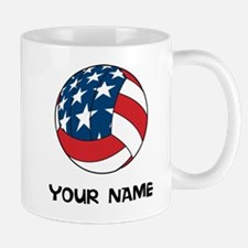 American Flag Volleyball Mugs