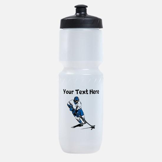 Hockey Player Sports Bottle