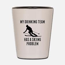Drinking Team Skiing Problem Shot Glass