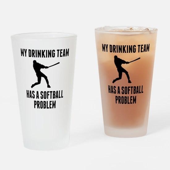Drinking Team Softball Problem Drinking Glass