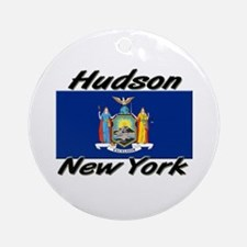 Hudson New York Ornament (Round)