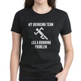 Running drinking Women's Dark T-Shirt
