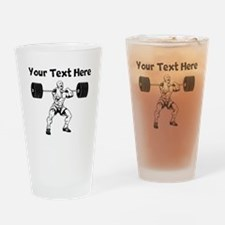 Weightlifter Drinking Glass