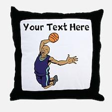 Basketball Dunk Throw Pillow