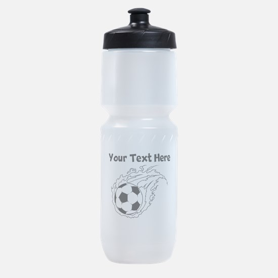 Flaming Soccer Ball Sports Bottle