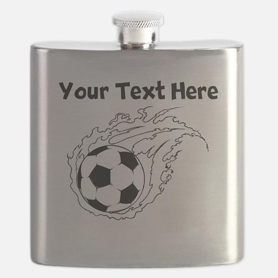 Flaming Soccer Ball Flask