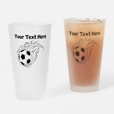 Flaming Soccer Ball Drinking Glass