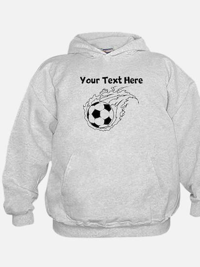 Flaming Soccer Ball Hoodie