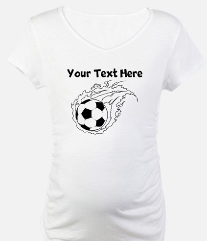 Flaming Soccer Ball Shirt