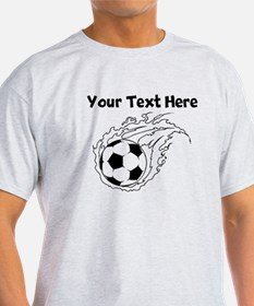 Flaming Soccer Ball T-Shirt
