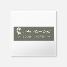 "John Muir Trail, California Square Sticker 3"" x 3"""