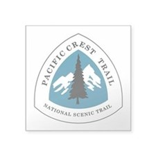 "Pacific Crest Trail, Califo Square Sticker 3"" x 3"""