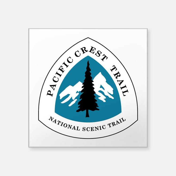 """Pacific Crest Trail, Califo Square Sticker 3"""" x 3"""""""