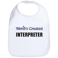 Worlds Greatest INTERPRETER Bib