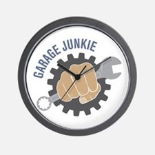 Garage Junkie Wall Clock