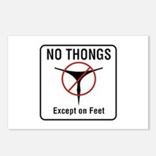 No Thongs Except on Feet, Postcards (Package of 8)