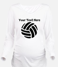 Volleyball Long Sleeve Maternity T-Shirt