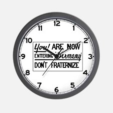 Don't Fraternize, Germany 1945 Wall Clock