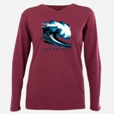 Surfer Slang: Mavericks Plus Size Long Sleeve Tee