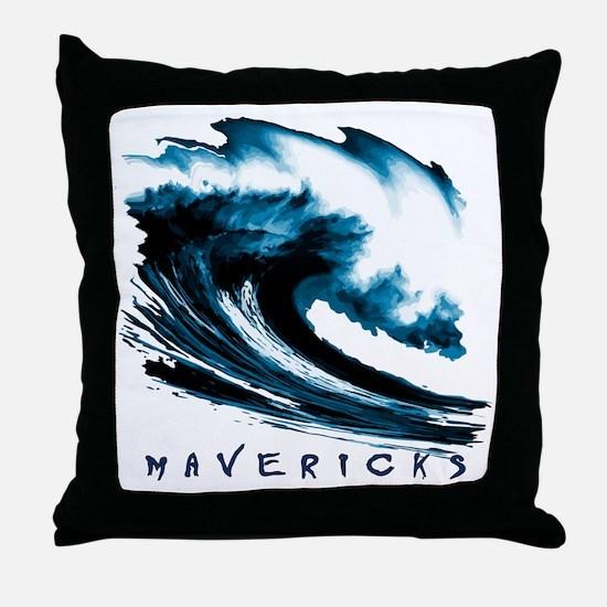 Surfer Slang: Mavericks Throw Pillow