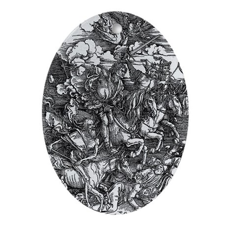 Four Horsemen of the Apocalypse Oval Ornament