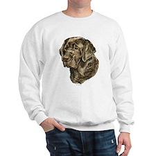 Chocolate Labrador Head Sweatshirt