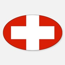 modern Switzerland Flag Decal