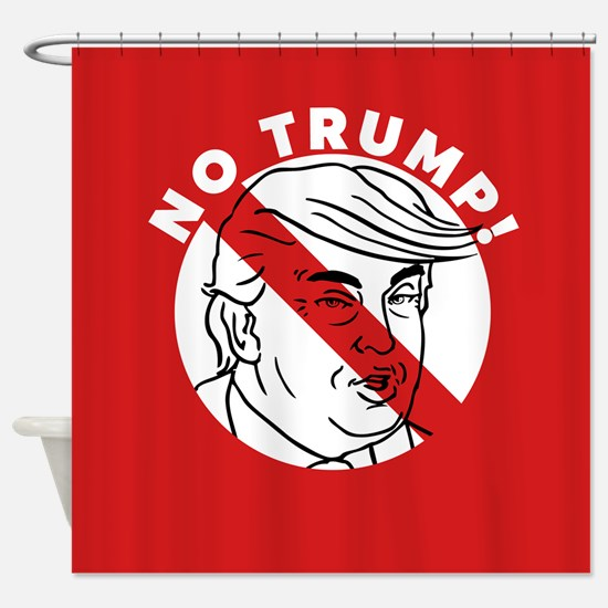 No Trump Shower Curtain