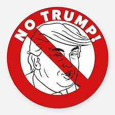 No Trump Round Car Magnet