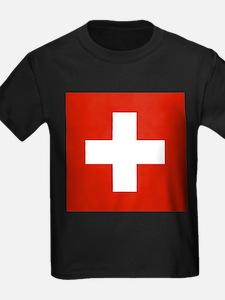 modern Switzerland Flag T-Shirt