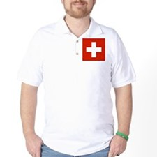 modern Switzerland Flag T-Shirt