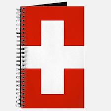 modern Switzerland Flag Journal