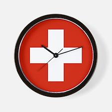 modern Switzerland Flag Wall Clock