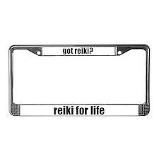 got reiki? Reiki for Life License Plate Frame