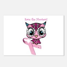 Breast Cancer Owl Postcards (Package of 8)