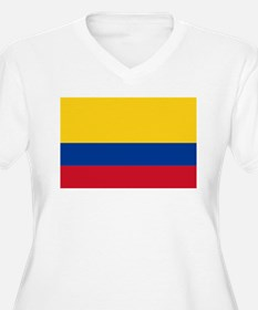Falg of Colombia Plus Size T-Shirt