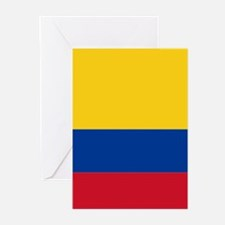 Falg of Colombia Greeting Cards