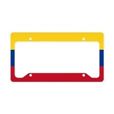 Falg of Colombia License Plate Holder