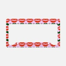 Red Green Mustache and Lips P License Plate Holder