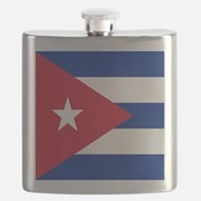 cuban flag Flask
