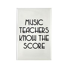 music teachers score Rectangle Magnet