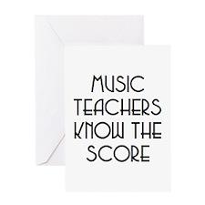 music teachers score Greeting Card