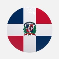 Dominican Republic Round Ornament